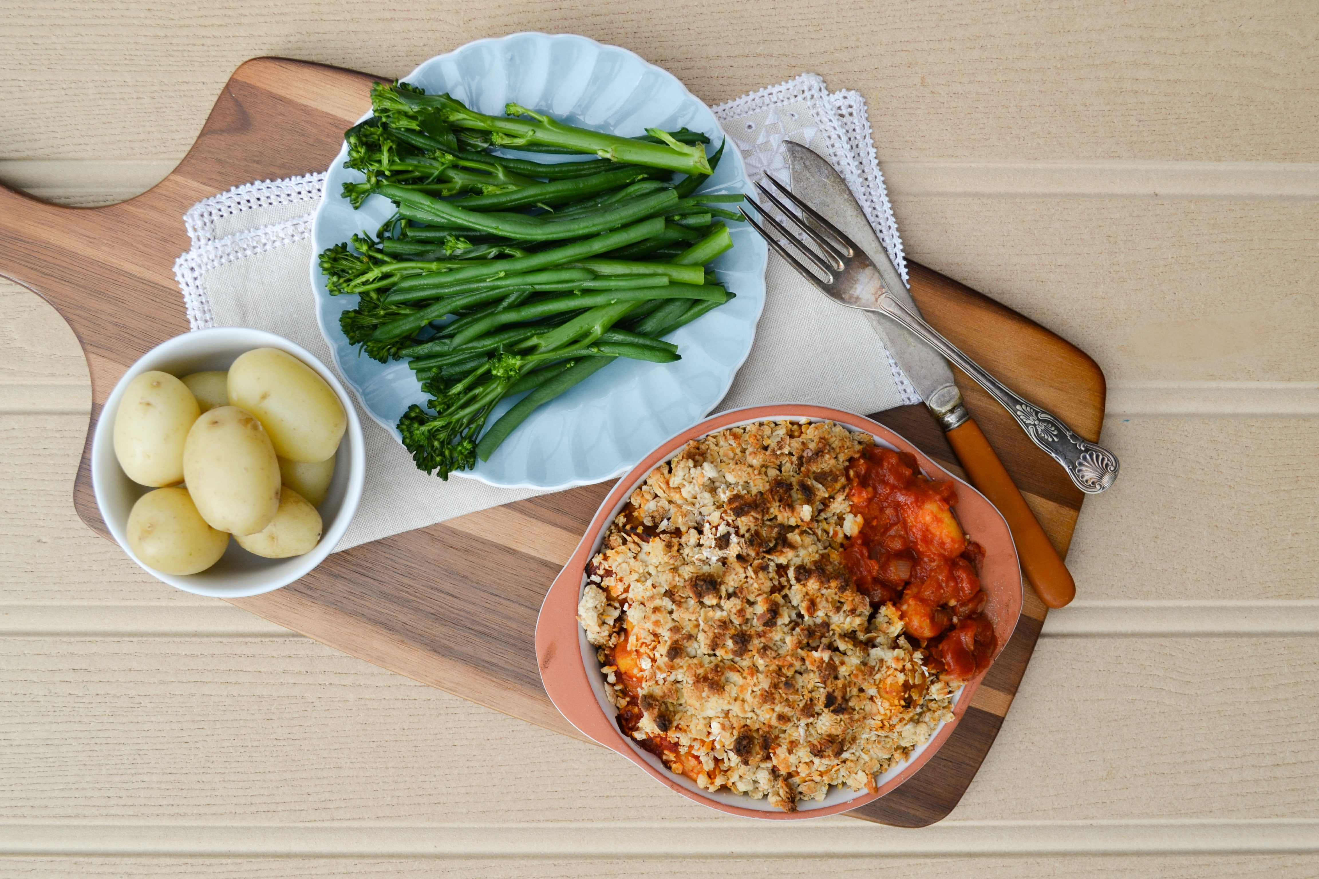 Tomato Gnocchi Bake with a Cheesey Crumble Topping copy